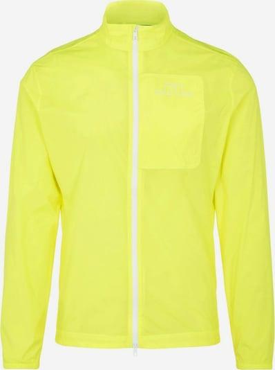 J.Lindeberg Veste fonctionnelle 'Ash' en jaune fluo / blanc, Vue avec produit