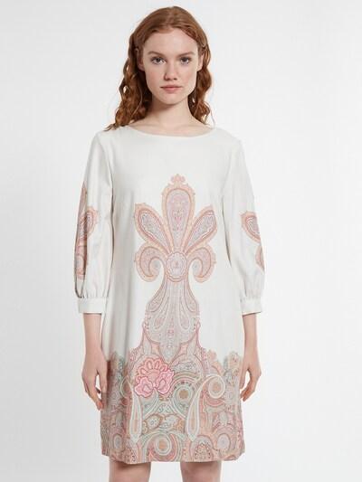 Ana Alcazar Kleid in beige / weiß, Modelansicht