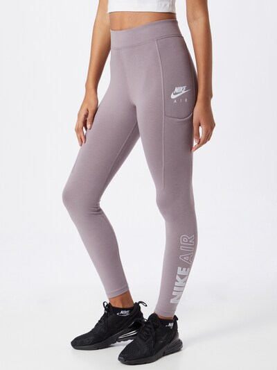 Nike Sportswear Leggings en lilas / blanc, Vue avec modèle