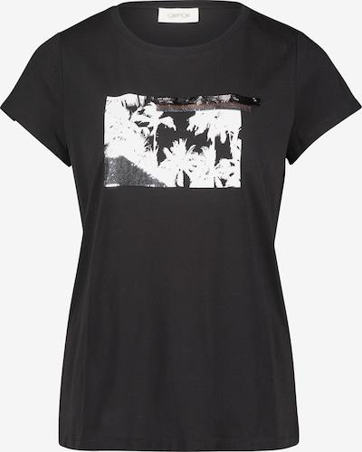 Cartoon Printshirt mit Rundhalsausschnitt in schwarz, Produktansicht