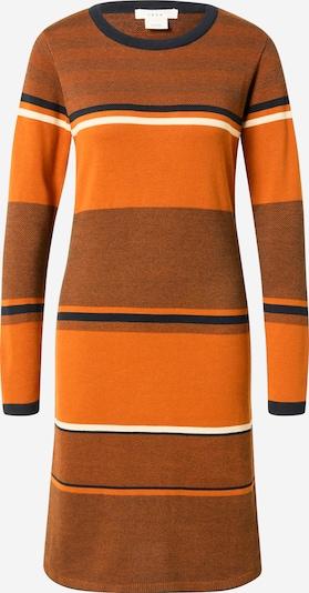 SKFK Robes en maille 'DURNE' en bleu nuit / orange / orange chiné / blanc, Vue avec produit