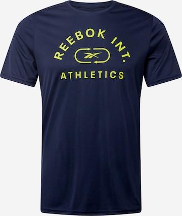 T-Shirt fonctionnel 'Workout Ready' Reebok Sport en bleu