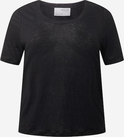 Selected Femme Curve T-shirt 'LINE' en noir, Vue avec produit