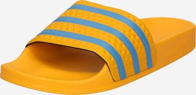 ADIDAS ORIGINALS Natikače 'Adilette' u plava / tamo žuta, Pregled proizvoda
