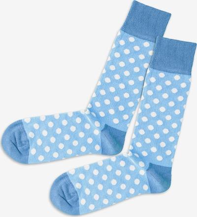 DillySocks Socken in hellblau / weiß, Produktansicht