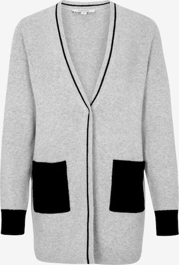 COMMA Strickjacke in grau / schwarz: Frontalansicht