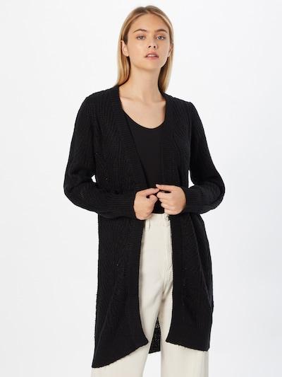 OBJECT Strickjacke 'Nova Stella' in schwarz, Modelansicht