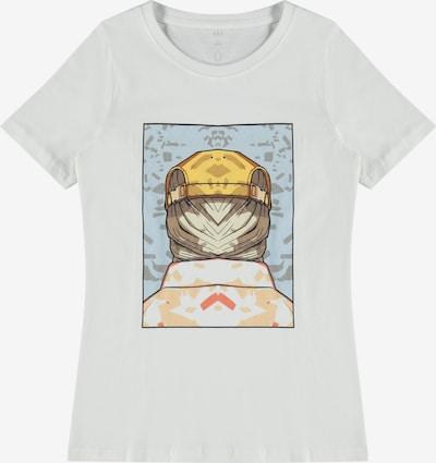 LMTD Shirt 'Dace' in de kleur Lichtblauw / Geel / Grijs / Wit, Productweergave