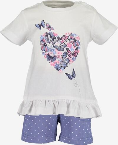 BLUE SEVEN Set: Shirt + Shorts in lila / weiß, Produktansicht
