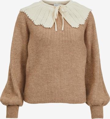 VILA Sweater 'Dayla' in Brown
