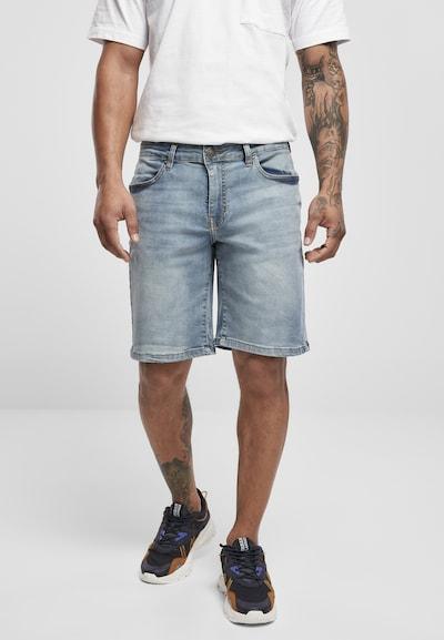 Urban Classics Jeans in de kleur Blauw denim, Modelweergave