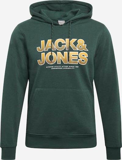 JACK & JONES Sweatshirt 'SENSE' in de kleur Geel / Donkergroen / Wit, Productweergave