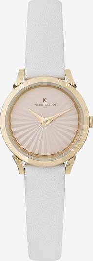 PIERRE CARDIN Uhr in gold / pastellpink / weiß, Produktansicht