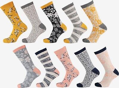 Apollo Socken in hellblau / gelb / rosa / weiß, Produktansicht