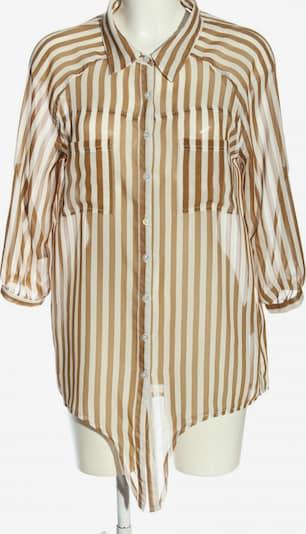 BROADWAY NYC FASHION Langarm-Bluse in L in braun / weiß, Produktansicht