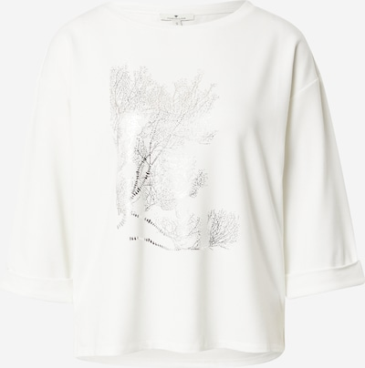 Marškinėliai iš TOM TAILOR, spalva – sidabrinė / balta, Prekių apžvalga
