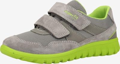 SUPERFIT Sneaker in hellgrau / grün, Produktansicht