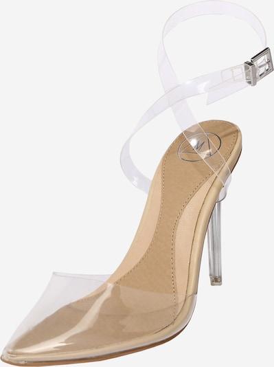 Missguided Escarpins à bride arrière 'PERSPEX' en beige / transparent, Vue avec produit