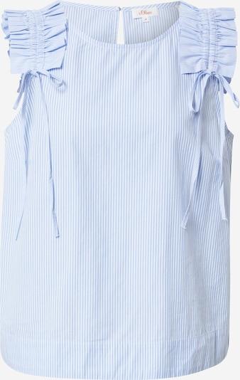 s.Oliver Bluse in hellblau / weiß, Produktansicht