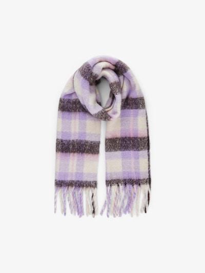 PIECES Scarf 'Eike' in Cream / Purple / Plum, Item view