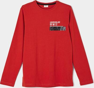 s.Oliver T-Shirt en gris foncé / rouge feu / blanc cassé, Vue avec produit