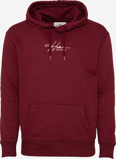HOLLISTER Sweatshirt i merlot / vit, Produktvy