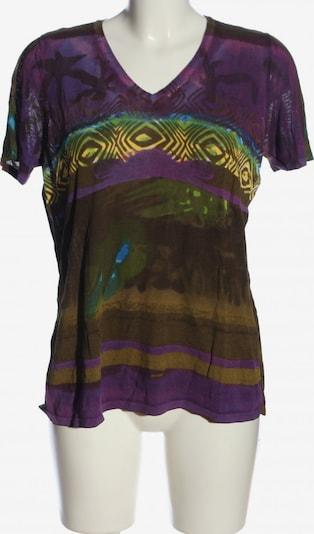 passport V-Ausschnitt-Shirt in XL in braun / pastellgelb / lila, Produktansicht