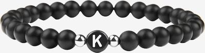 GOOD.designs Armband 'K' in de kleur Zwart / Wit, Productweergave