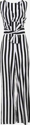 Madam-T Jumpsuit 'Rebecca' in de kleur Zwart / Wit, Productweergave