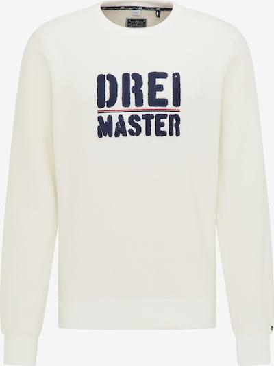 DreiMaster Maritim Sweat-shirt en bleu marine / blanc: Vue de face