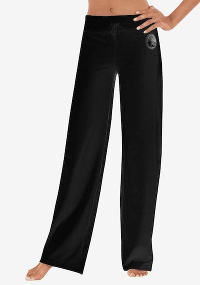 HIS JEANS Pantalon en noir, Vue avec modèle