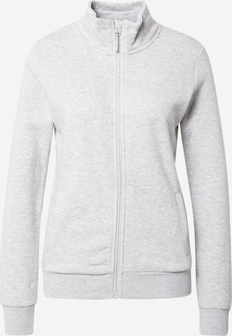 4F Athletic Zip-Up Hoodie in Grey