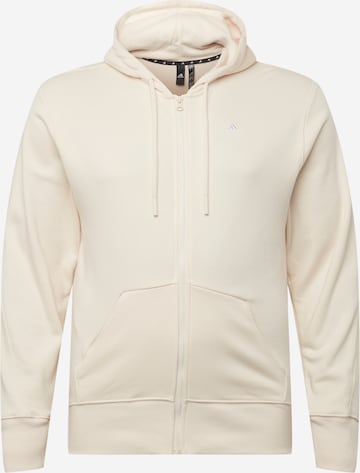 ADIDAS PERFORMANCE Αθλητική ζακέτα φούτερ σε λευκό