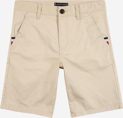 Pantaloni 'ESSENTIAL' TOMMY HILFIGER pe bej / navy / roșu deschis / alb, Vizualizare produs