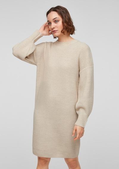 s.Oliver Pletena haljina u bež, Prikaz modela