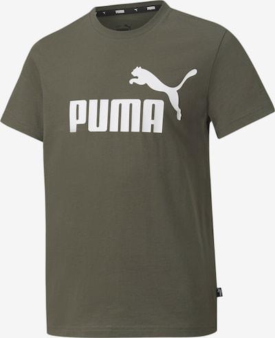 PUMA T-Shirt in oliv / weiß, Produktansicht