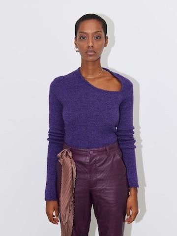 LeGer by Lena Gercke Sweater 'Rabea' in Purple