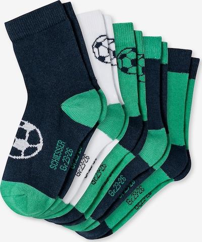 SCHIESSER Socken in dunkelblau / grün / weiß, Produktansicht