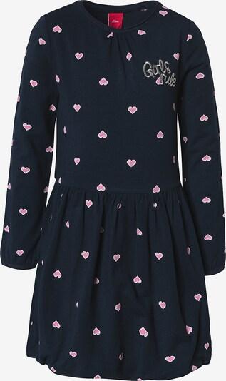 s.Oliver Kleid in dunkelblau / pastellpink / weiß, Produktansicht