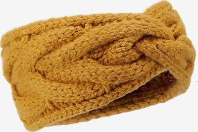 LOEVENICH Strickstirnband ' mit Zopfmuster ' in senf, Produktansicht