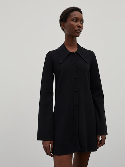 EDITED Knitted dress 'Myah' in Black, View model