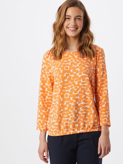 OPUS Blouse 'Ferusa' in de kleur Sinaasappel / Wit, Modelweergave