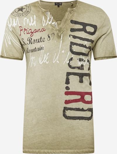 Key Largo Tričko 'RIDGE' - kaki / jedľová / karmínovo červená / biela, Produkt