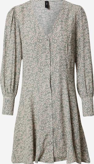 Y.A.S (Petite) Kleid 'LICURA' in dunkelbraun / grau / weiß, Produktansicht