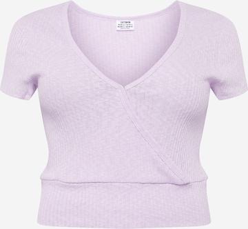 Cotton On Curve Shirt 'TONYA' in Lila