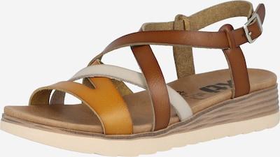 Xti Sandale in braun / cognac / weiß, Produktansicht