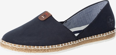 RIEKER Espadrilles in Night blue / Dark brown, Item view