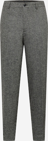 SELECTED HOMME Trousers with creases 'LOUIS' in Grey