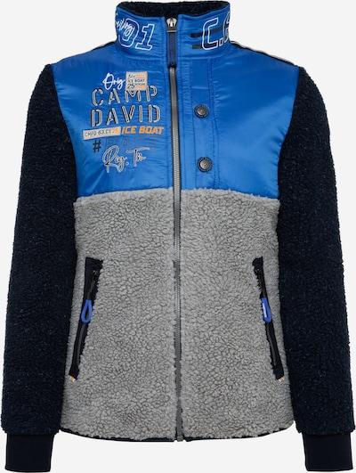 CAMP DAVID Fleecejacke im Material- und Farbmix in blau, Produktansicht