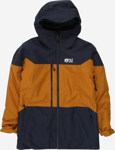 Picture Organic Clothing Sport-Jacke 'Proden' in navy / goldgelb / weiß, Produktansicht